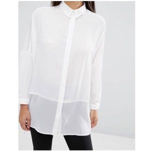 ✨nwt✨➡️final SALE!⬅️ asos high low sheer shirt